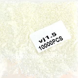 Generic Pearl Nail Art 1bag/lot(10000pcs/bag) 15 Colors optional VJ1.5 Beige Round Pearls Are Flat Nail Art Tip Pearl