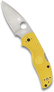 Spyderco Native 5 Salt - Cuchillo (10 cm), Color Amarillo