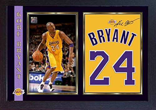 S&E DESING Kobe Bryant LA Lakers NBA Basketball Autogramm gerahmt #004