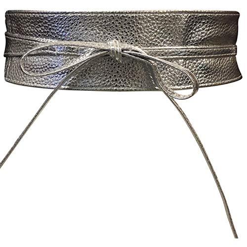 Cinturón Obi de mujer Banda de cintura ancha de encaje Cincha de cuero sintético Ate una talla Boho