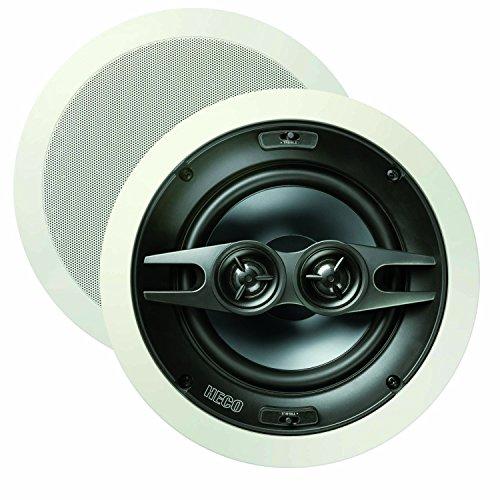 Heco Install INC 2602 | High-End Deckeneinbaulautsprecher | für Feuchträume (Badezimmer) geeignet | max 180 Watt | 1 Stück - weiß