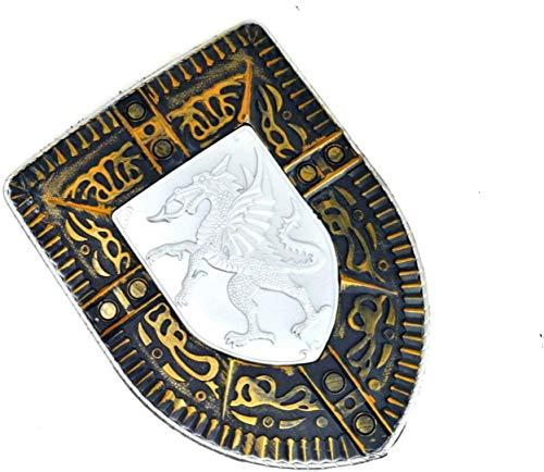 niños Espada 31cm Proteger Accesorio de Espada Escudo de Juguete de Caballero y Juego de Espada Guerrero de Juguete Espada Infantil Dragones Guerrero Medieval