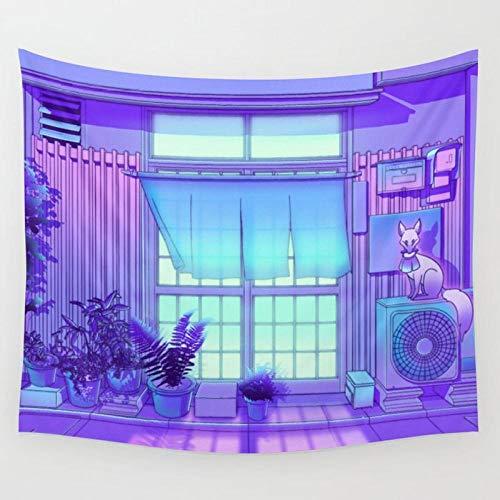 DFGNMB Osaka tapiz de la mañana decoración del hogar tela de fondo arte pop, se puede utilizar para la decoración del dormitorio de la sala de estar 150x130cm