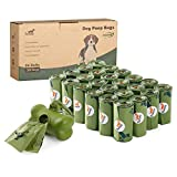 Toozey 360 Bolsas Caca Perro, Bolsas Biodegradables Perro con Dispensador, Antifugas y Sin Olor, Bolsas Excrementos Perros Gruesas y Grandes, Fáciles de Rasgar, 24 Rollos