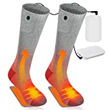CORNMI Heated Socks Foot Warmer for Men Women, Rechargeable Electric Socks with 4000mAh Totally...