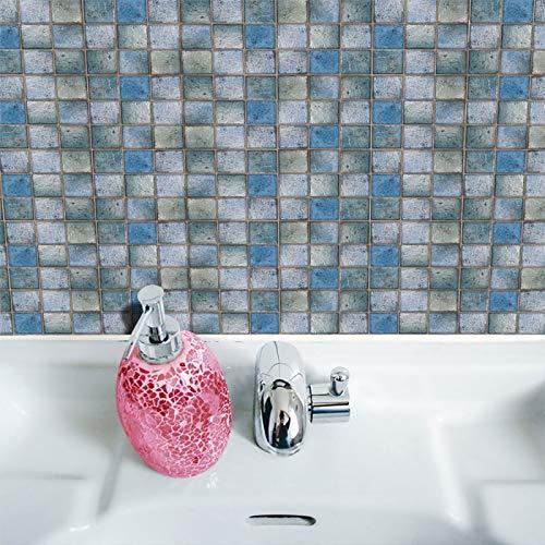Pegatinas De Azulejos De Mosaico DIY Pegatinas De Cocina De Baño A Prueba De Agua Pegatinas De Pared A Prueba De Agua Dormitorio Sala De Estar Impresión 3D Pegatinas Decorativas Set 19Pcs