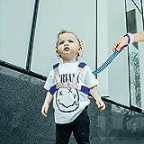Felly Imbracatura di Sicurezza per Bambini, Regolabile Anti-Perso Cinturino da Polso Cinturino, Imbracatura per Bambini Spiaggia del Bambino Parco della, lunghezza 1,5 m (Blu)