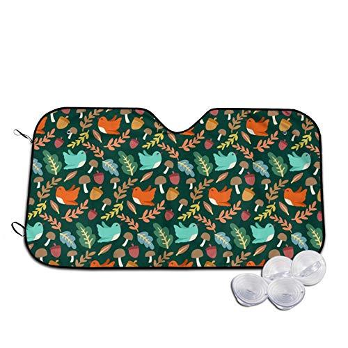Sombrillas para coche con diseño de pájaros, para ventana frontal, accesorios para interior de vehículos, protección contra rayos UV