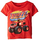Nickelodeon boys Blaze and the Monster Machines Short Sleeve Tee fashion t shirts, Red, 4T US