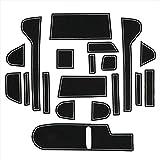 新型 NBOX カスタム アクセサリー ポケットマット インテリアラバーマット JF3 JF4 マット ゴムマット 19P (蓄光ホワイト)