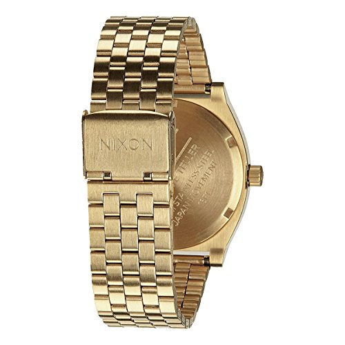 Nixon Time Teller A045511-00. Women's Gold Watch (37mm. Gold Metal Band/Gold Watch Face)