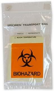 Biohazard Specimen Transport Bags Document Pouch 6 x 9 Zip Lock Closure