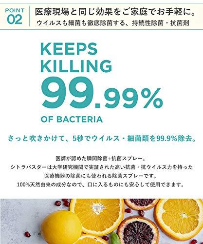 [CITRUBUSTER] GSE 除菌スプレー 300ml 日本製 【99.99%除菌】+【1週間効果持続】ノンケミカル/ノンアルコール 携帯 手指 キッチン 赤ちゃんにも使える 安心 植物由来成分 無味 無臭 CBS300-1_zb