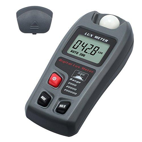Digital 20000 Fc/200000 luxmeter Photometer beleuchtungsstärke mit hoher Genauigkeit und schnelle Reaktion Data Hold in der Schule Familie Industrie Lager Labor