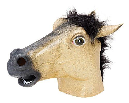 Gold Horse Overhead Animal Mask