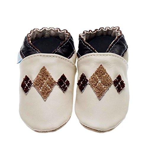 Jack and Lily , Chaussures souple pour bébé (garçon) - Beige - Beige (Cream), 24/25 EU