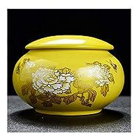 葬儀の壷葬儀の火葬壷陶器人間の灰のための記念壷大人またはペットのディスプレイ埋葬壷(色:緑)
