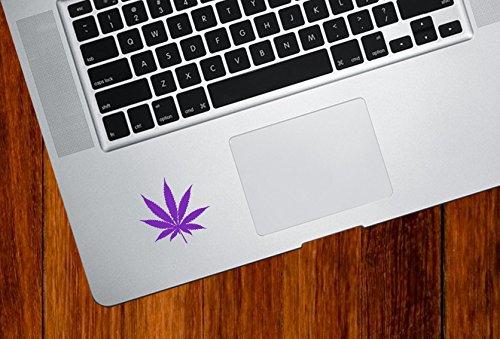 Cannabis Leaf - Marijuana - Pot - Weed - Trackpad/Keyboard - Vinyl Decal Sticker (2.5