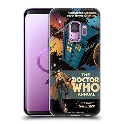 Head Case Designs Offizielle Doctor Who David Tennant Jaehrliche Klassische Cover Soft Gel Huelle kompatibel mit Samsung Galaxy S9