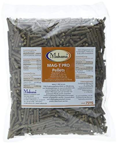 Makana MAG-T PRO pellets (met magnesium, vitamine E, vitamine B12), 750 g zakje (1 x 0,75 kg)