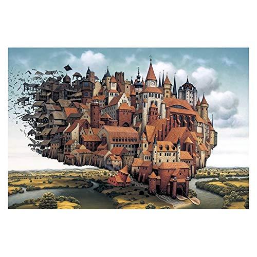 Puzzle di Legno 500/1000/1500/2000/3000/4000/5000 Pezzi Puzzle for Adulti Regalo Educativo for Bambini Castello Aereo 0316 (Size : 4000 Pieces)