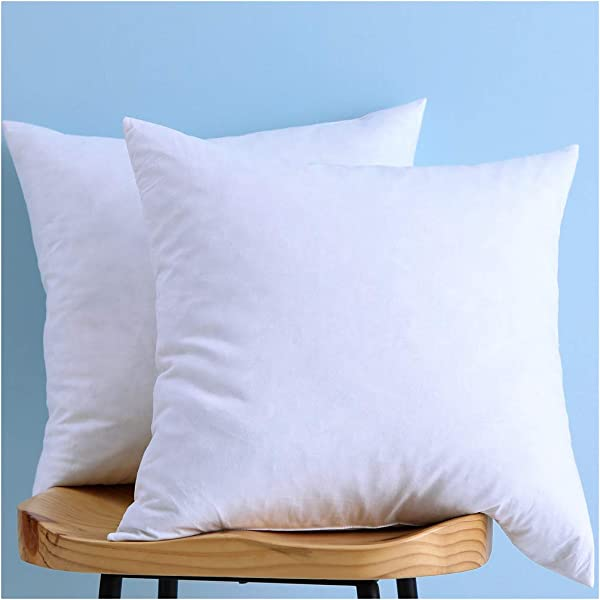 Set Of 2 Cotton Fabric Two Pillow Inserts Down And Feather Throw Pillow Insert Decorative Pillows Inserts Have Many Different Sizes Please Choose The Suitable Size Pillow Inserts 18X18 Inches