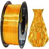 Filamento PLA ERYONE Ultra Seda para impresora 3D, 1,75 mm, tolerancia: ± 0,03 mm, 1 kg (2,2 libras) / carrete, Dorado