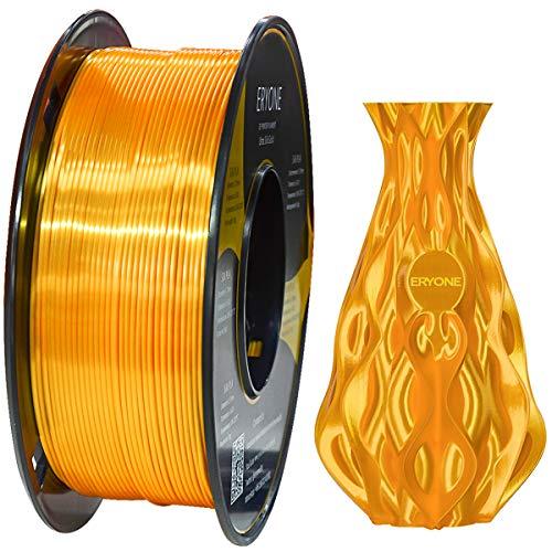 Filamento PLA Oro Ultra Seda 1.75mm, ERYONE Impresión 3D PLA Super Filamento para Impresora 3D y Bolígrafo 3D, 1kg 1 Carrete