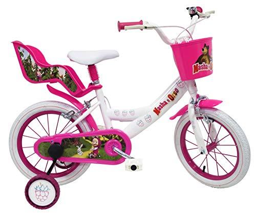 Masha et l'Ours Vélo Enfant Blanc 14\