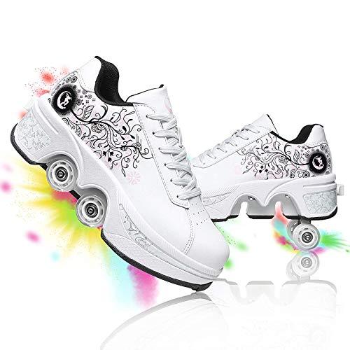Zapatos con Ruedas, Zapatos De Skate para Mujeres, Hombres, Niños, Niños, Zapatillas con Ruedas, para Regalo Unisex para Principiantes