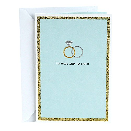 Hallmark Wedding Card (To Have and To Hold Wedding Bands) - 399RZH1035