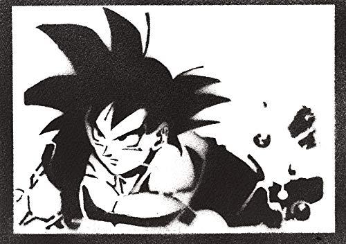 Póster Son Goku Bola de Dragón Grafiti Hecho a Mano - Handmade Street Art - Artwork