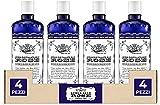 Acqua alle Rose, Tonico Viso con Acqua Distillata Alle Rose - Formula Rinfrescante con Proprietà Idratanti e Tonificanti, Rende la Pelle Giovane ed Elastica - 4 Confezioni da 300 ml