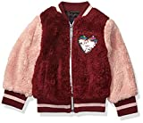 Limited Too Girls' Toddler Fuzzy Fur Bomber, Burgundy, 3T