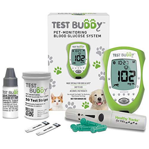 Test Buddy Pet Diabetes Monitoring Blood Glucose Meter Kit for Dogs and Cats