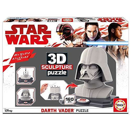 3D Puzzle Darth Vader, construye una fantástica escultura en 3D por capas de 160 piezas. Medida: 22 x 14 x 21,2cm. Fabricado en España. Cada 3D Sculpture Puzzle incluye: Peana de plástico, Adhesivo con el nombre, Guía interior, Pintura. Llegan los nu...