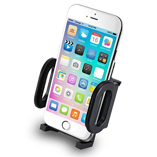 Incutex Soporte teléfono móvil Coche Auto Compatible para iPhone 6, 6S, 6 Plus, 5S, 4S, Samsung Galaxy S6, S6 Edge, S5 etc.