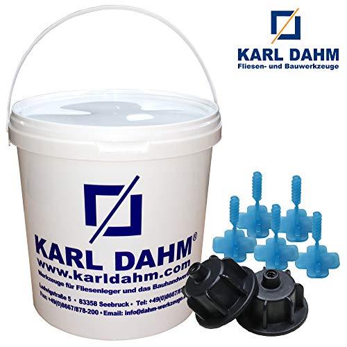 Basis Nivelliersystem Set schwarz, 3 mm Laschen, Art.-Nr. 12441 von KARL DAHM, Fliesen plan verlegen, Verlegehilfe, Verlegesystem, Fliesenverlegung, Levelingsystem
