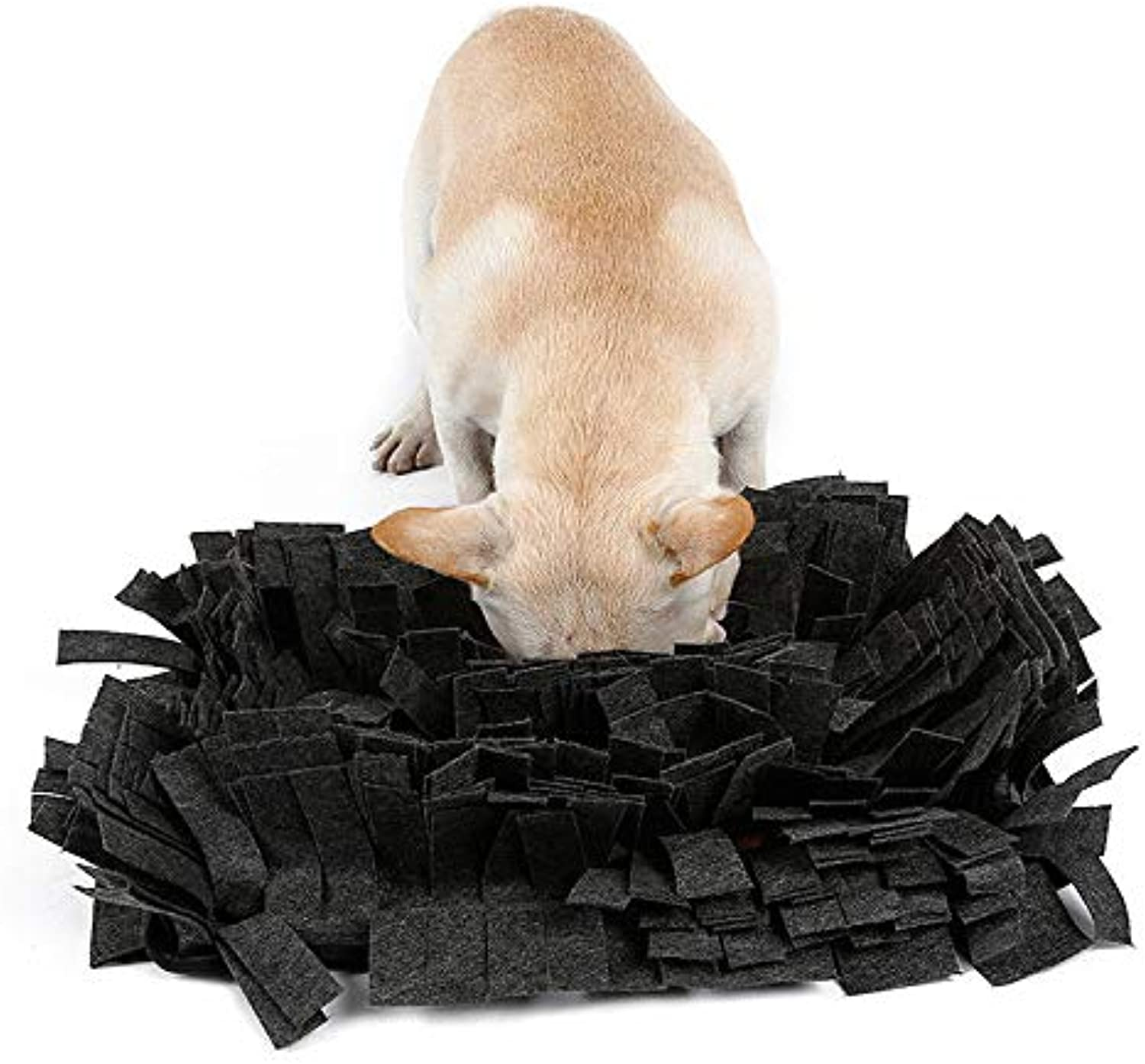 FidgetGear Durable NonToxic Pet Dog Snuffle Mat Dog Training Feeding Mat, Size  44 x 32cm Grey