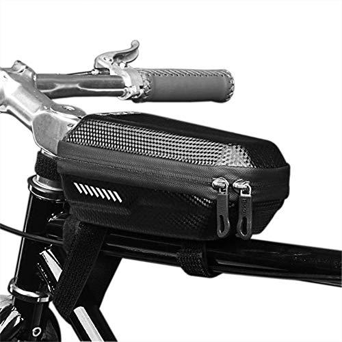 Bolsa de sillín de ciclismo Top bicicletas delantero del tubo de haz Bolsa camino de MTB Ciclismo anti presión de choque a prueba de lluvia bolsa de accesorios de la bici Bolsa de bicicleta de carrete