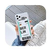新しい高級エアチケットアートフォンケースiPhone12 PRO 11 pro max 6S 7 8 Plus 5S SE X XR XSMAXシリコンソフトTPUチケットカバー -TPU M8-For iPhone 12 MINI