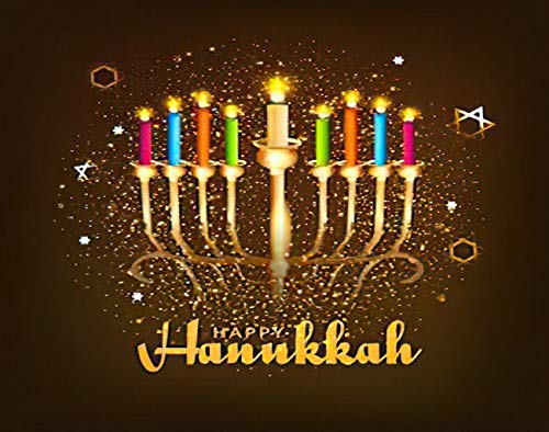 MQPPE Happy Hanukkah Holiday DIY Jigsaw Puzzles, Dreidel Light Burning Candle Candlestick Carve Chanukah 1000 Pieces Wooden Puzzles Best Family Decompression Games for Adults, 20 x 30 Inches