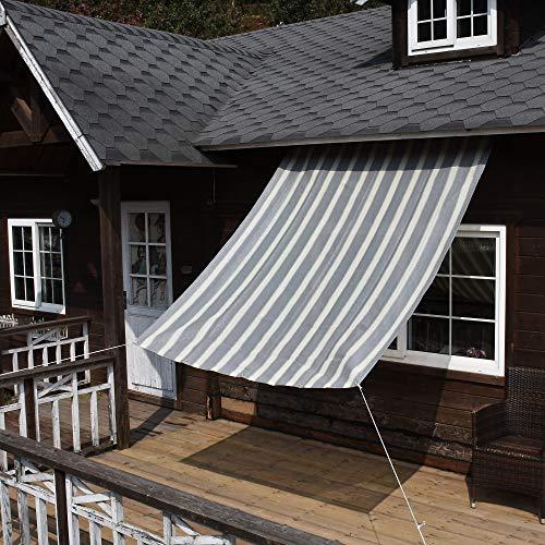 Nice Home(ナイスホーム) 日除けシェード オーニング UVカット 1.8×1.8m グレー・ホワイト