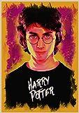 qiaolezi Harry Wanted Order No deseable No.1 Cartel de Kraft Edición Limitada Harry Movie Art Posters Sirius Black Poster A206 50 × 70CM Sin Marco