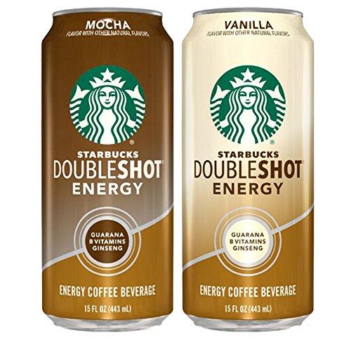 Starbucks, Doubleshot Energy Coffee, Variety Pack (Mocha/Vanilla), 15 fl oz. cans (12 Pack)