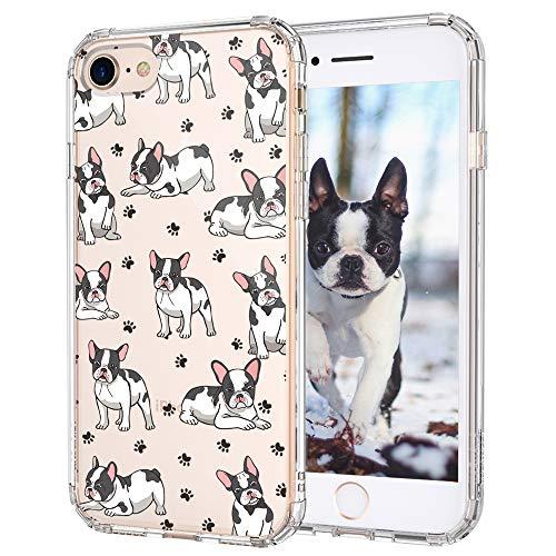 MOSNOVO Cute French Bull Dog Pattern Designed for iPhone SE 2020 Case/Designed for iPhone 8 Case/Designed for iPhone 7 Case - Clear