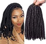 10 Inch Pre-twisted Spring Twist Hair 7 Pack Crochet Hair for Black Women(1B)
