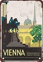 家の装飾サインインチ、ウィーンオーストリア壁サインメタルプラークポスター鉄絵警告サインアート装飾用バーホテルオフィスカフェテリアレトロヴィンテージバーサインティンサインヴィンテージ