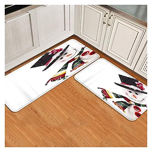 Llaibian Cocina Anti Fatiga. Conjunto de Estera de Cocina de 2, hechicero Suave Antideslizante. (Color : Blanc)