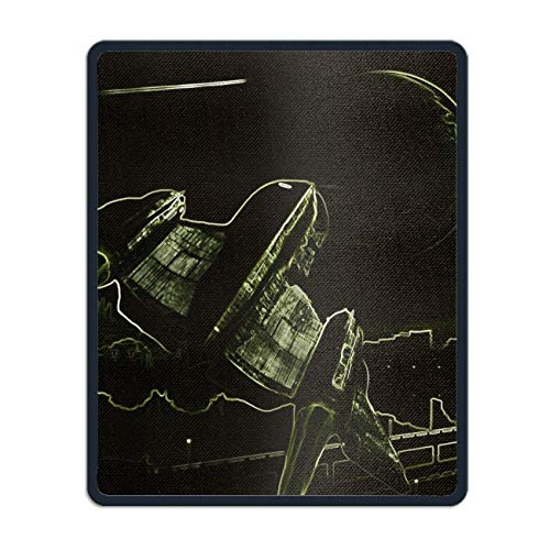 Abstract Sci Fi Spaceship Planet Moon Mouse Pad Non-Slip Mouse Mat for Home, Office & Travel